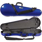 Galaxy Comet 300SL Shaped Violin Case, Blue/Gray