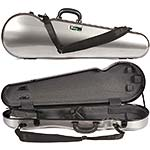 Galaxy Comet 300SL Shaped Violin Case, Gray/Gray