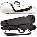 Galaxy Comet 300SL Shaped Violin Case, White/Gray