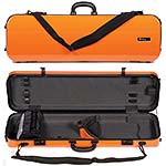 Galaxy Zenith 500SL Oblong Violin Case, Orange/Gray