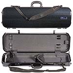 Galaxy Zenith 500SL Oblong Violin Case, Black/Gray