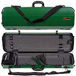 Galaxy Zenith 500SL Oblong Violin Case, Green/Gray