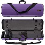 Galaxy Zenith 500SL Oblong Violin Case, Purple/Gray