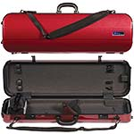 Galaxy Zenith 500SL Oblong Violin Case, Red/Gray