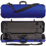 Galaxy Zenith 500SL Oblong Violin Case, Blue/Gray