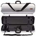 Galaxy Zenith 500SL Oblong Violin Case, Silver/Gray