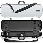 Galaxy Zenith 500SL Oblong Violin Case, White/Gray
