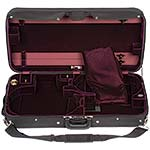 Bobelock 1023SV Combination 4/4 Violin & Adjustable Viola Case: Wine Velvet Interior