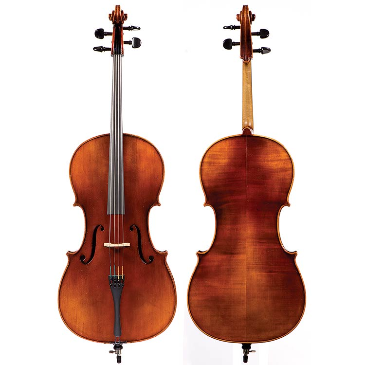 "3/4 German cello labeled ""E.R. Pfretzschner, 1967"""