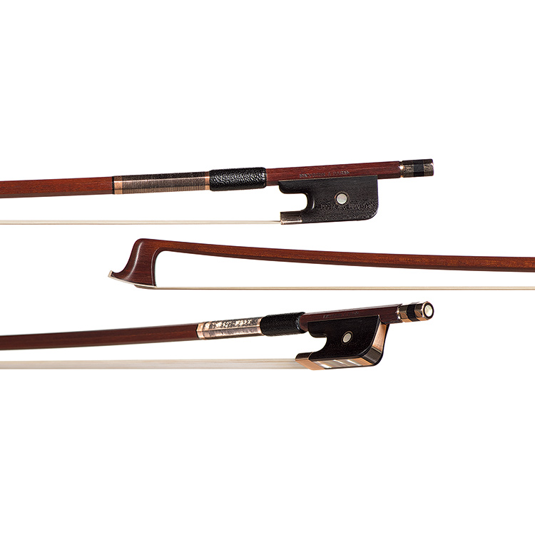 "Emil Werner gold-mounted viola bow branded ""Voirin"""