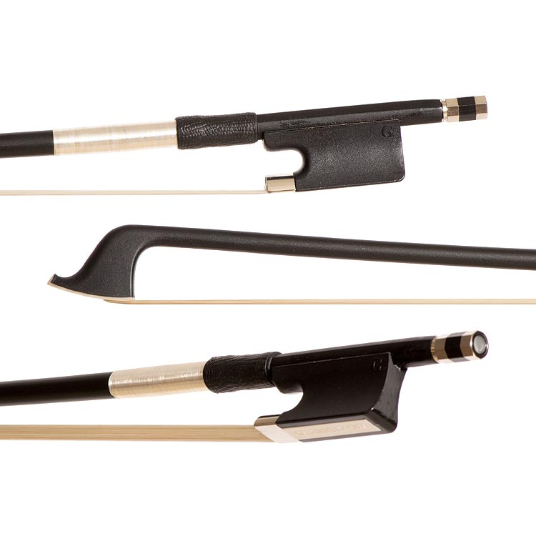 Glasser Premium Fiberglass 3/4 Cello Bow, Black