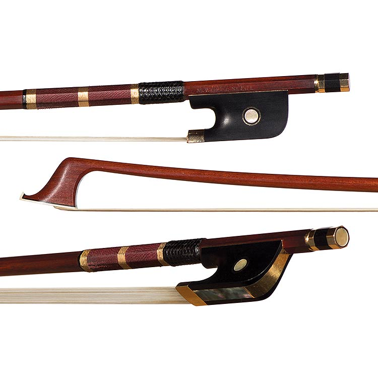 Matthew Wehling gold-mounted cello bow