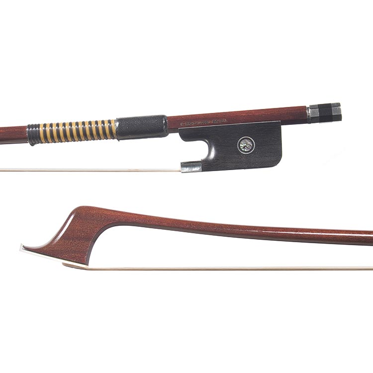 1/4 Arcos Brasil nickel-mounted cello bow