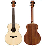 Echo Bridge EB300 3/4 Grand Studio Guitar, Spruce Top with Steel Strings and Soft Case