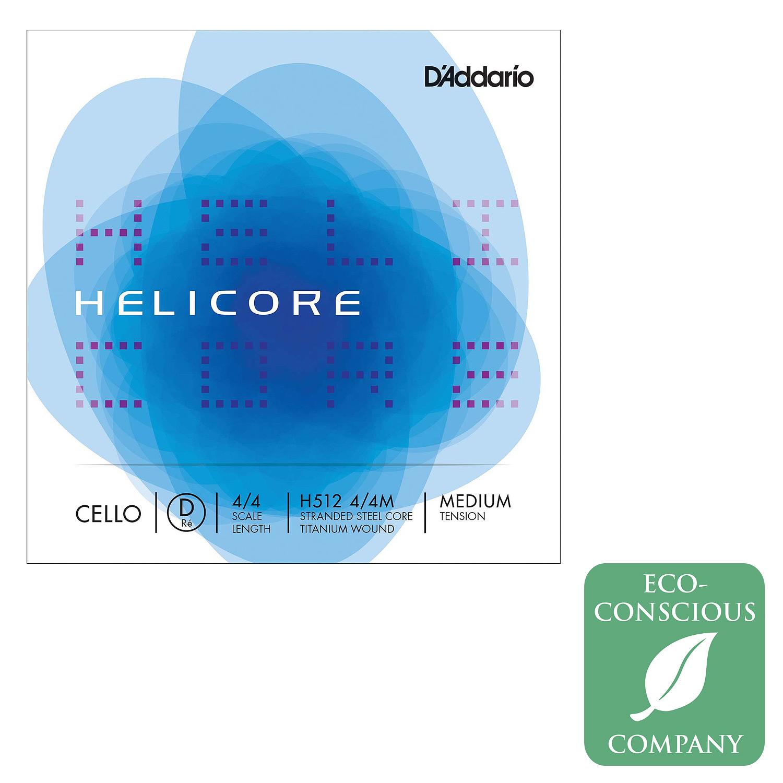 Helicore Cello D String - titanium/steel: Medium
