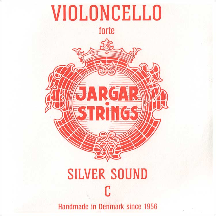 Jargar Cello C String - silver/steel: Thick/forte