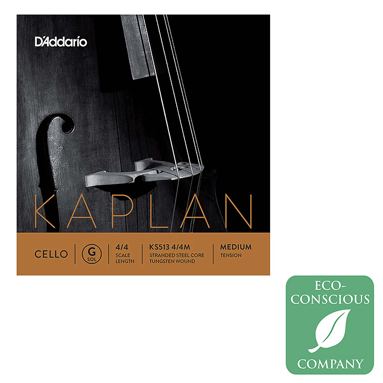 Kaplan Cello G String - tungsten/steel: Medium