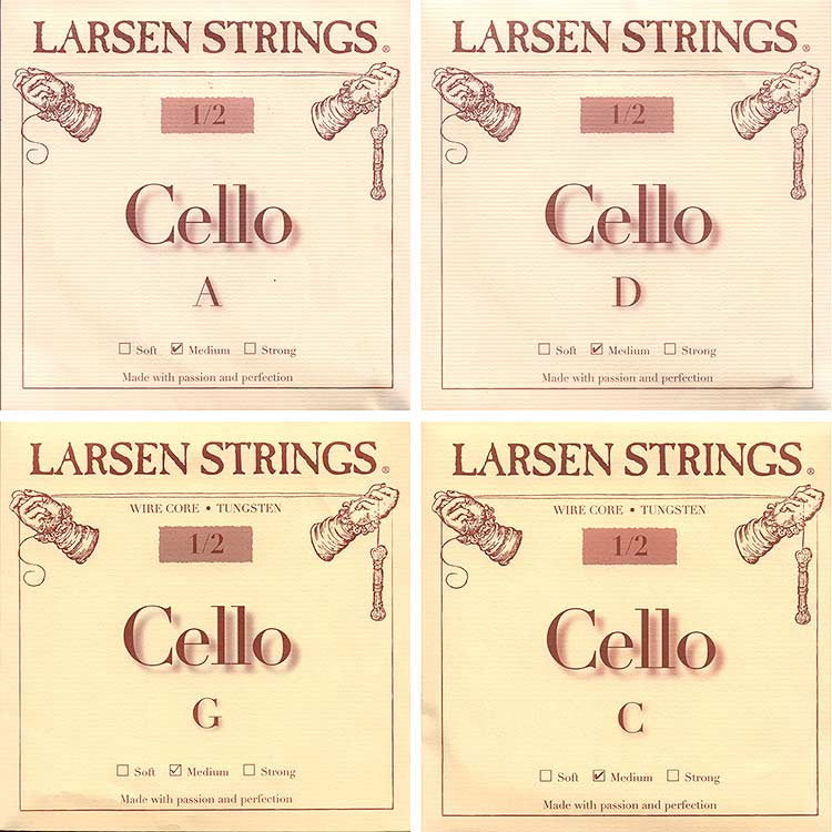 Larsen 1/2 Cello String Set - Medium