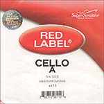 Red Label 3/4 Cello A String - nickel/steel