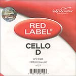 Red Label 3/4 Cello D String - nickel/steel