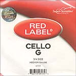 Red Label 3/4 Cello G String - nickel/steel