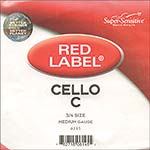 Red Label 3/4 Cello C String - nickel/steel
