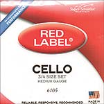 Red Label 3/4 Cello String Set