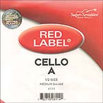 Red Label 1/2 Cello A String - nickel/steel