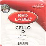 Red Label 1/2 Cello D String - nickel/steel