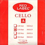Red Label 1/4 Cello A String - nickel/steel