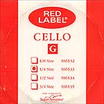 Red Label 1/4 Cello G String - nickel/steel