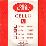Red Label 1/4 Cello C String - nickel/steel