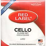 Red Label 1/4 Cello String Set