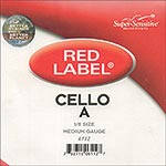 Red Label 1/8 Cello A String - nickel/steel