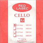 Red Label 1/8 Cello G String - nickel/steel