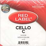 Red Label 1/8 Cello C String - nickel/steel