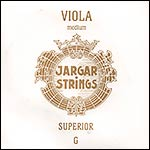 Jargar Superior Viola G String - Silver/synthetic: Medium, ball