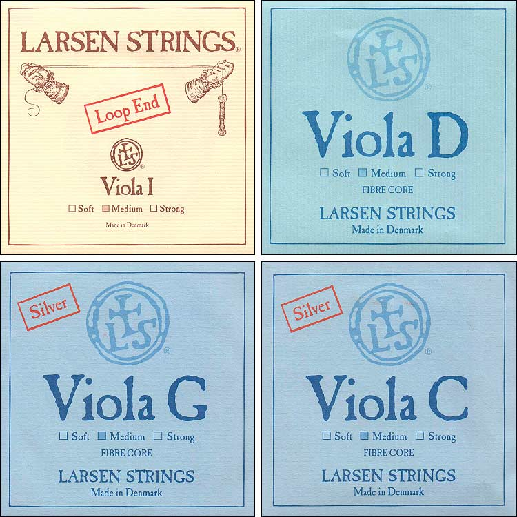 Larsen Viola String Set - Medium, A loop end