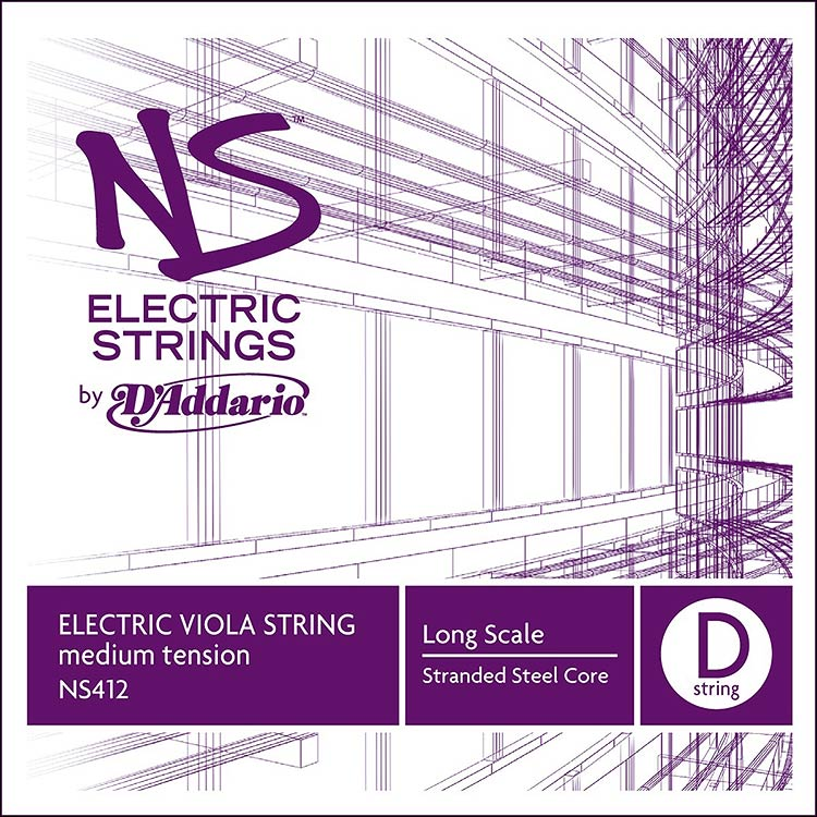 NS Electric Viola D String - stranded steel core: Medium