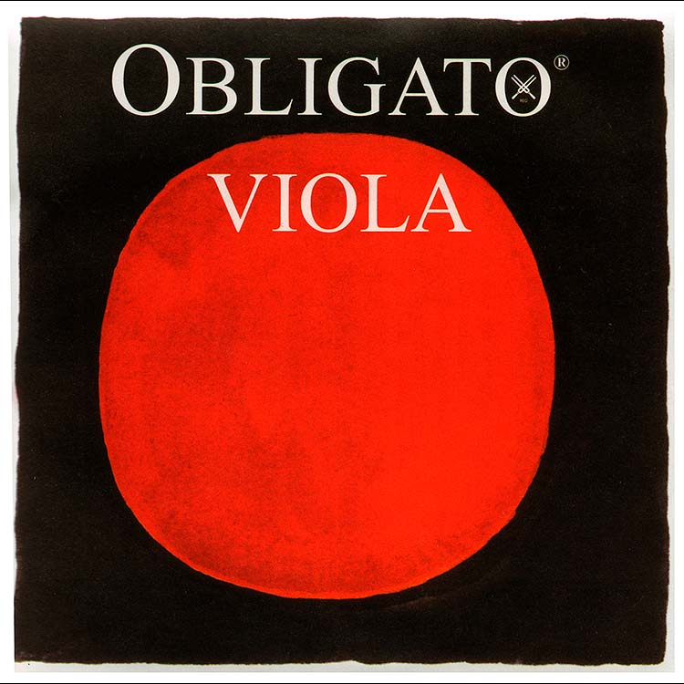 Obligato Viola C String - tungsten-silver/synthetic: Thin/Weich
