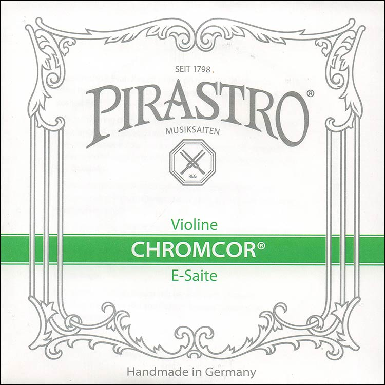 Chromcor 3/4-1/2 Violin E String - chromesteel: Medium, ball end