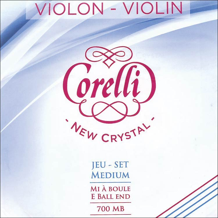 Crystal Violin String Set - Medium, ball end E