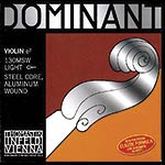 4/4 Dominant Violin E String - Aluminum/Steel: Thin/Weich with Loop End