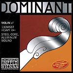 4/4 Dominant Violin E String - Aluminum/Steel: Thick/Stark with Loop End