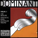 4/4 Dominant Violin D String - Aluminum/Perlon: Medium