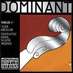 4/4 Dominant Violin D String - Silver/Perlon: Medium