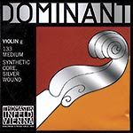 4/4 Dominant Violin G String - Silver/Perlon: Medium