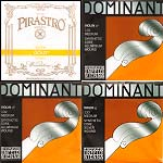 JSI Special Violin String Set: Pirastro Gold Label E ball end, Dominant. A, D, G