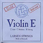 Larsen Violin E String - gold-plated: Strong, ball end