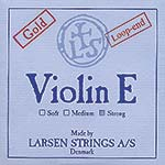 Larsen Violin E String - gold-plated: Strong, loop end